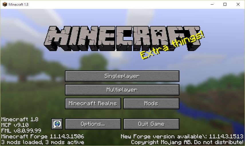 minecraft with forge active